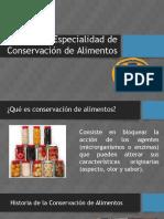 Especialidad de Conservación de Alimentos