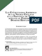 LAS ENCRUCIJADAS AMOROSAS DE LAS NEGRAS ESCLAVAS EN LA PROVINCIA DE TUNJA DURANTE EL PERIODO DE DOMINIO HISPÁNICO