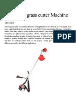 Automatic Grass Cutter Machine