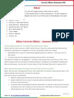 Bihar Current Affairs 2016 (Jan-Dec) by AffairsCloud