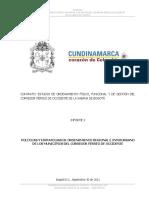 Políticas de Ordenamiento Regional e Interurbano Del Corredor Férreo de Occidente