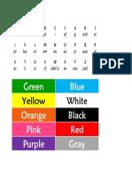 Abecedario en Ingles y Colores