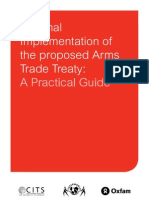 National Implementation of the Proposed Arms Trade Treaty