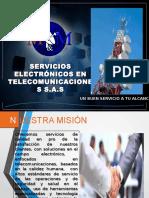 Presentación m&m Servicios Electronicos en Telecomunicaciones .2017