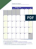 Calendario Setembro 2016