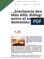 Advertencia Desde El Más Allá_ Diálogos Entre El Exorcista y Los Demonios » Foros de La Virgen María