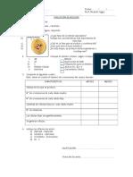 Evaluación de Biologia Division Celular