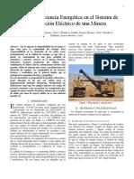 Calidad y Eficiencia Energética en El Sistema de Distribución Eléctrico de Una Minera Tarea 1