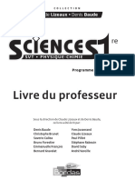 Sciences - 1re L, ES SVT, Physique-chimie - Bordas - Programme 2011