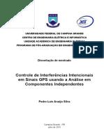 Controle De Interferências Intencionais Em Sinais Gps Usando A Análise Em Componentes Independentes