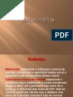 malnutritia treertuio