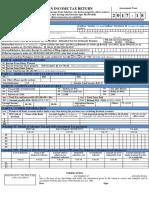 Form ITR-1 SAHAJ