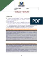 UNIEURO - IED Fontes do Direito.doc
