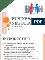 Business Negotiation- Bcom