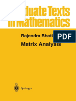Matrix Analysis [Rajendra Bathia - Springer]