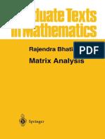 Matrix Analysis [Rajendra Bathia - Springer]
