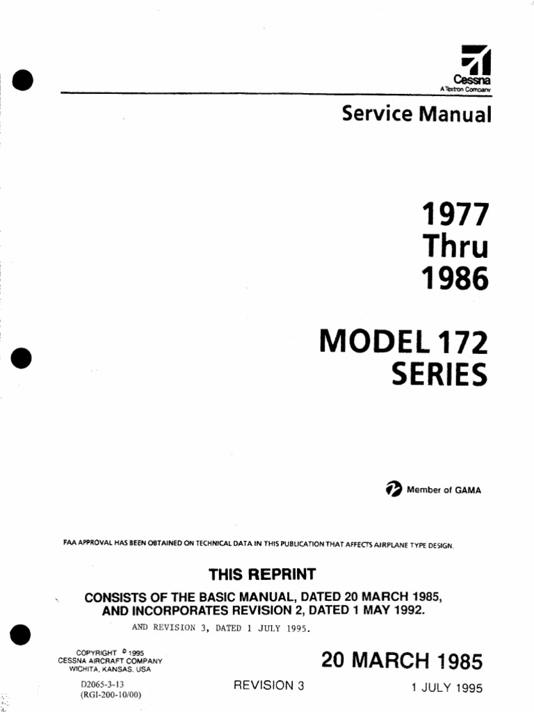 Cessna 172 1977 1986 Mm D2065 3 13 Nut Hardware Screw Schematic Audio Amplifer With Ic An315