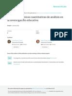 Métodos y Técnicas Cuantitativas de Análisis en La Investigación Educativa