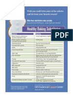 Healthy Baking Substitutes Blue