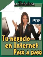Tu Negocio en Internet Paso a p - Ana Zabaleta