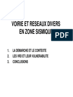 VRD en Zone Sismique