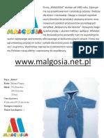 Małgosia-Katalog Ubranka Dziecięce Ceny Hurtowe