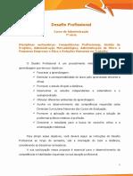 Desafio Profissional - Administração 7ª Série