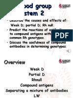7. Rh Blood Group System 2R