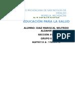 Carpeta de Evidencias Educacion Para La Salud