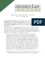 Bankruptcy Discharge Enforcement in New York