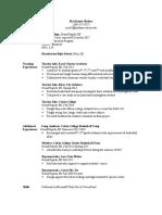 resume for ed
