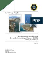 Hawaii Range Complex Final EIS/OEIS Volume 1 of 5