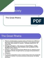 The Great Rhetra - Spartan Society
