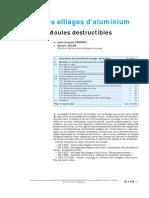 Moulages Des Alliages d'Aluminium Généralités.moules Destruc