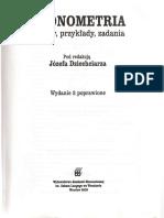 [2156] Józef Dziechciarz - Ekonometria. Metody, Przykłady, Zadania