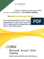 Training Presentation - Build and Publish Web Databases