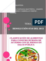 DIAPOSITIVAS. Resolucion 0719 de 2015