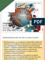 Estrategias de Tic en La Educacion