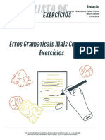 Exercícios - erros gramaticais