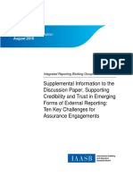 IAASB Discussion Paper Integrated Reporting Supplemental Information 0
