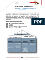 Tema 1 Introducción Al Mantenimiento Industrial y Generalidades. Complemento