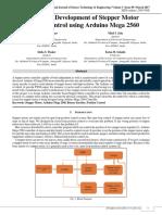 Design & Development of Stepper Motor Position Control Using Arduino Mega 2560
