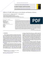 Influence of Traffic Enforcement on the Attitudes and Behavior of Drivers