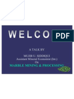 Marble Mining and Processing