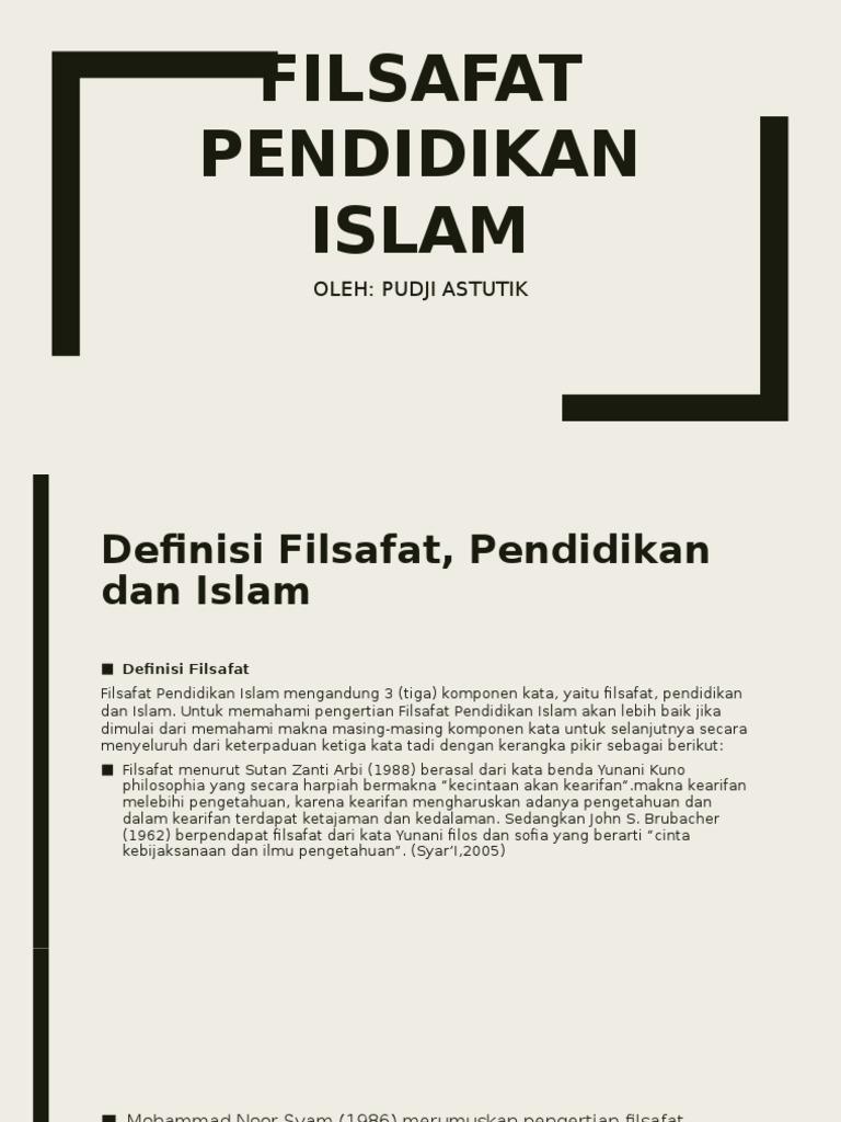 Contoh Makalah Tentang Filsafat Pendidikan Islam