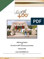 Santa Fe 400th anniversary committee annual report Feb. 2010