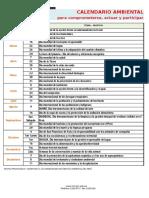 Calendario Ambiental (MINAM)