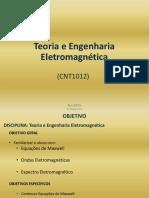 CNT10 - Teoria e Engenharia Eletromagnetica 20161111