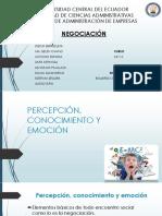PERCEPCIÓN CONOCIMIENTO Y EMOCIÓN EN LAS NEGOCIOACIONES