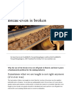 Break-even is Broken - AusIMM Bulletin